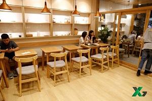 Công trình sàn nhựa quán trà sữa Hachi Tea