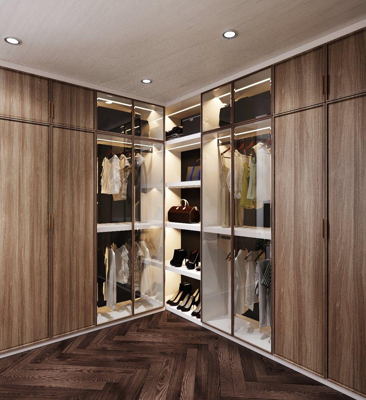 Tủ quần áo gỗ MDF lõi xanh chống ẩm hiện đại