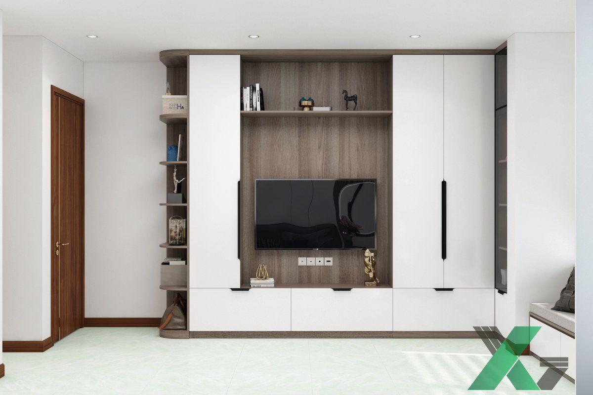 Tủ quần áo, tủ trang trí kết hợp kệ tivi tiện dụng