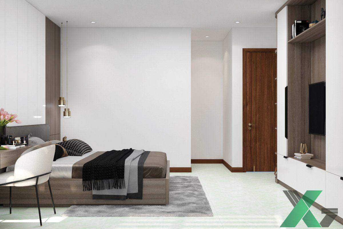 Không gian nội thất phòng ngủ hiện đại