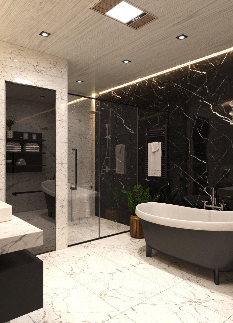 Phòng tắm vách kính cường lực trong suốt