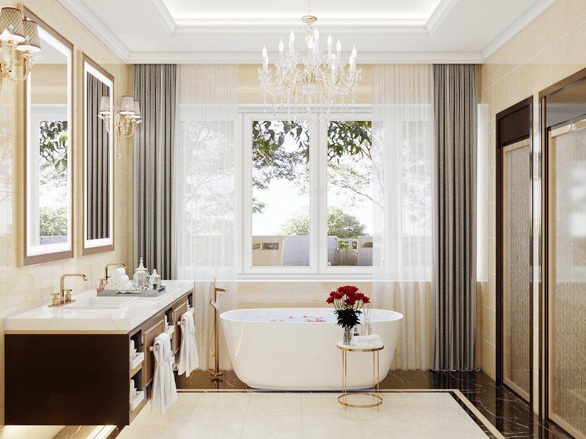 Phối cảnh thiết kế nội thất phòng tắm