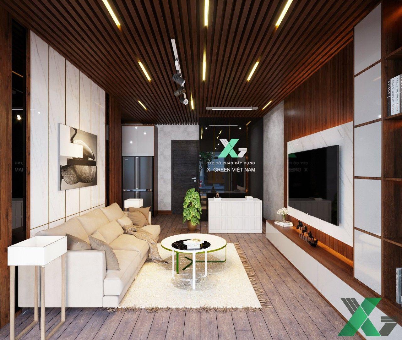 Bộ sofa kết hợp với bàn trà console hiện đại